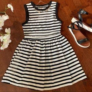 Silence + Noise Black & White Striped Dress